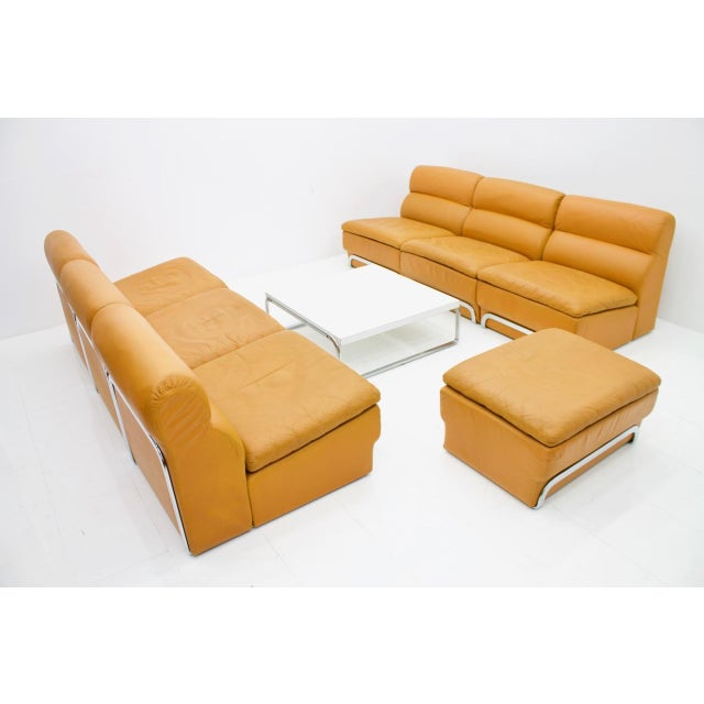 Modular Seating Group & Coffee Table Leather Sofa by Horst Brüning for Kill 1970 For Sale - Image 9 of 12