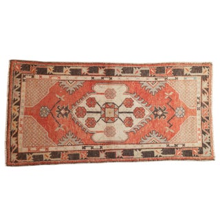 "Vintage Distressed Oushak Rug Runner - 2'7"" X 5'4"" For Sale"