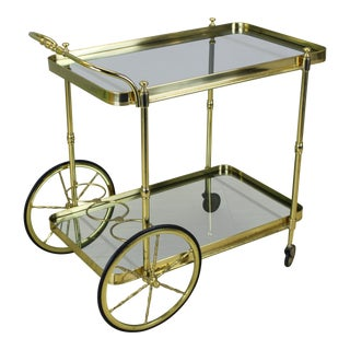Vintage Italian Brass Tea Cart