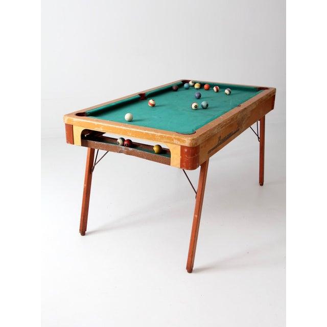 MidCentury Burrowes Portable Pool Table Chairish - Mid century modern pool table