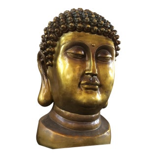 Early 20th Century Buddha Head For Sale