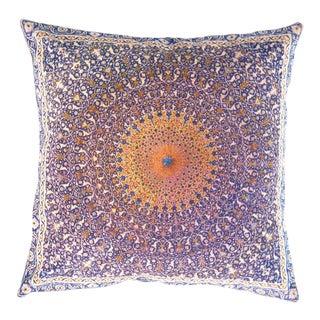 Persian Velvet Pillow 16' X 16' For Sale