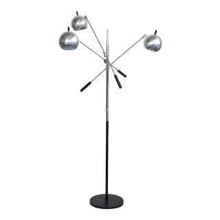 Robert Sonneman Triennale Style Chrome Floor Lamp