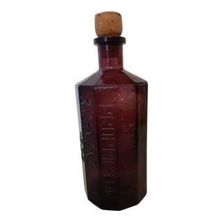 Vintage 1970s Lancaster's Indian Vegetable Jaundice Bitters Bottle Wheaton, Nj For Sale