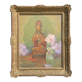 "Dana Bartlett Original Oil Painting, ""Guanyin"" For Sale"