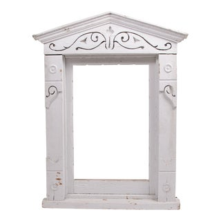 Vintage White Window Frame For Sale
