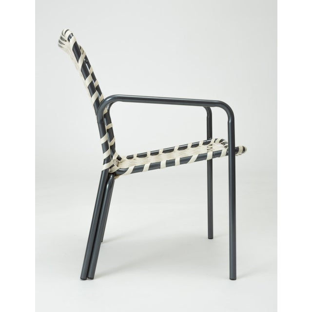 Aluminum Set of Eight Patio Dining Chairs by Ames Aire For Sale - Image 7 of 9