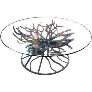 Iron Coral Branch Cocktail Table For Sale