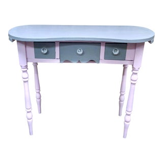 Antique Pink Kidney Shaped Vanity For Sale