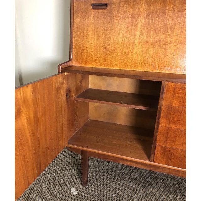 Mid Century Teak Secretary Desk by Turnidge of London For Sale In Atlanta - Image 6 of 13