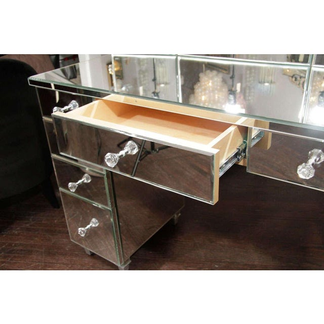 Mid 20th Century Art Deco Style Mirrored Dressing Table For Sale - Image 5 of 10