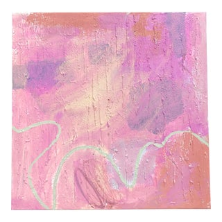 Pink Abstract by Virginia Chamlee For Sale