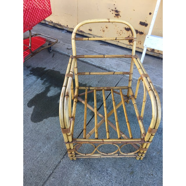 Vintage Bamboo Arm Chair For Sale In San Francisco - Image 6 of 7