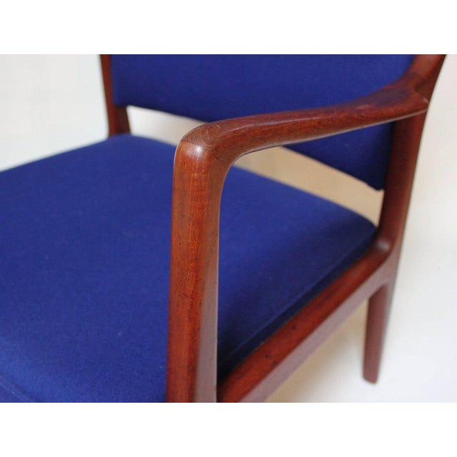 Blue 1960s Swedish Modern Teak Lounge Chair For Sale - Image 8 of 11