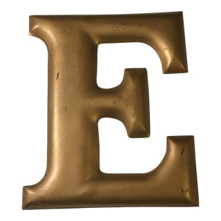 "Contemporary Letter ""e"" Sign For Sale"