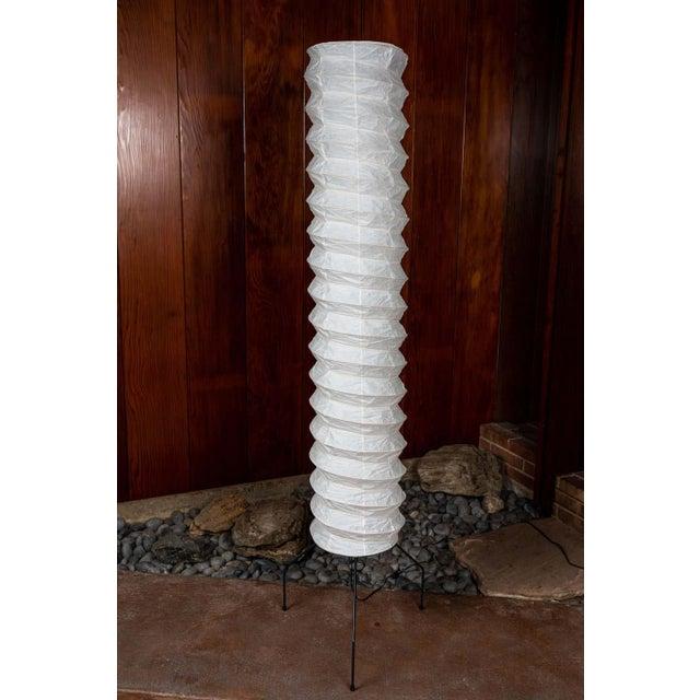 Monumental Akari Model Uf4-31n Floor Lamps by Isamu Noguchi - a Pair For Sale In Los Angeles - Image 6 of 13