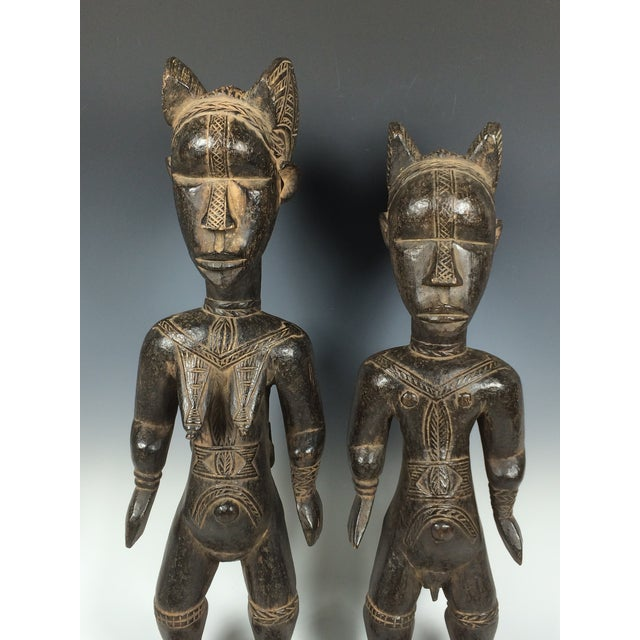 Ivory Coast African Dan Statues - A Par - Image 7 of 11