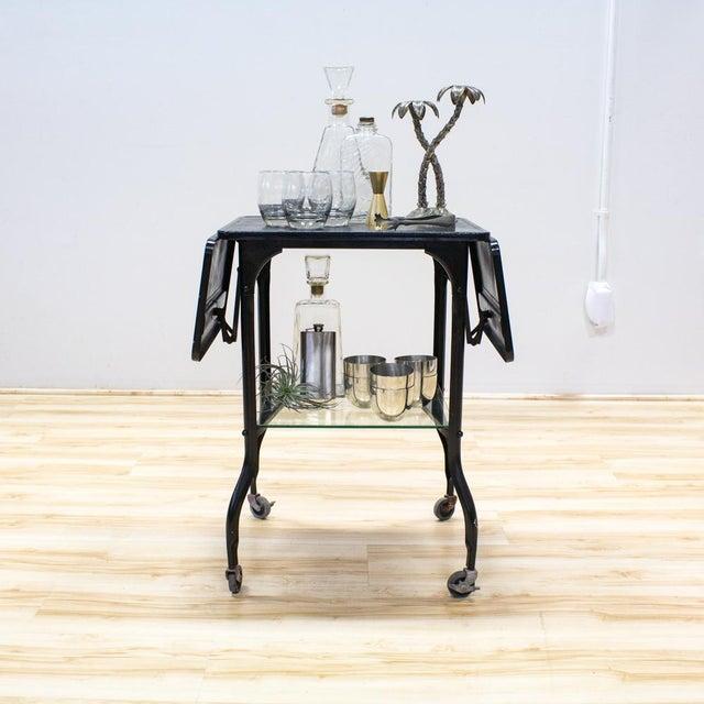 Black Industrial Bar Cart - Image 3 of 9