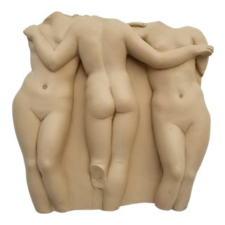 "1955 Alva Studios "" The Three Graces "" Wall Art Sculpture For Sale"