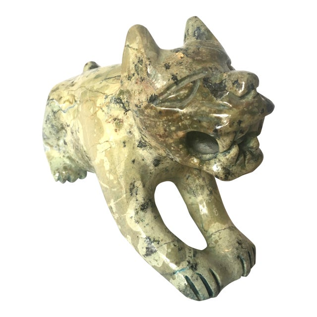 Carved Stone Guardian Lion - Image 1 of 9