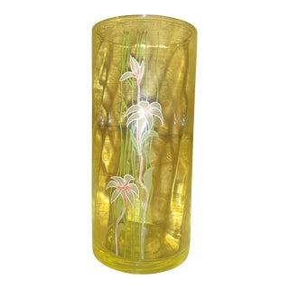 Vintage Crystal Cylinder Vase For Sale