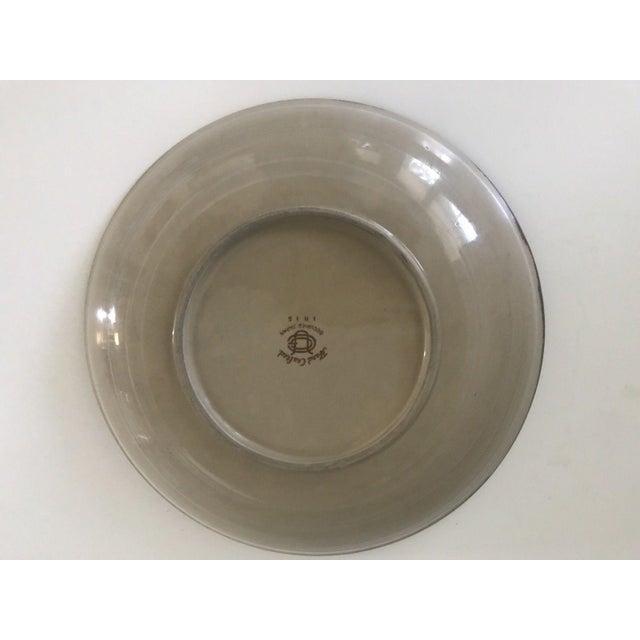 Vintage Mid-Century Modern Occupied Japan Irises Ceramic Plate Bowls - 5pc Set For Sale - Image 10 of 11