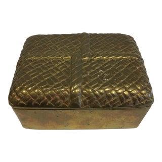 Brass Braided Box