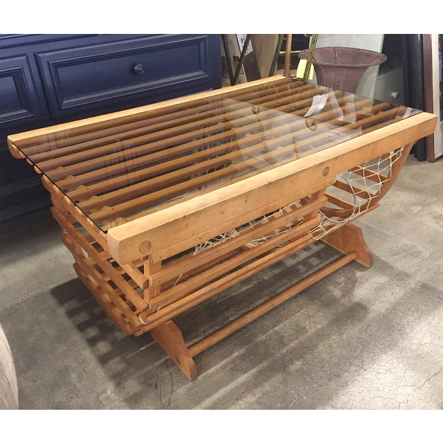 Modern Nautical Lobster Trap Coffee Table - Image 4 of 8
