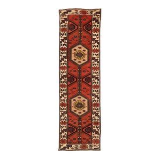 Antique Persian Runner Rug Art Deco Design For Sale