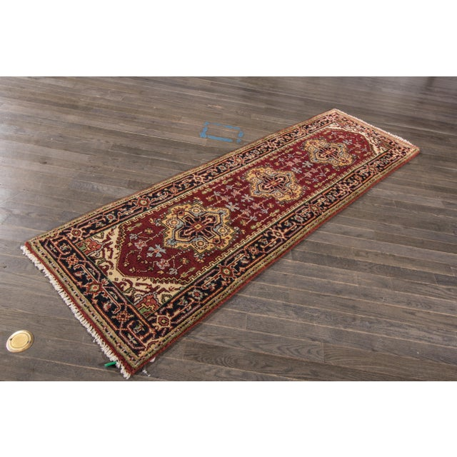 "Textile Modern Indo Serapi Rug, 2'7"" X 8'4"" For Sale - Image 7 of 8"