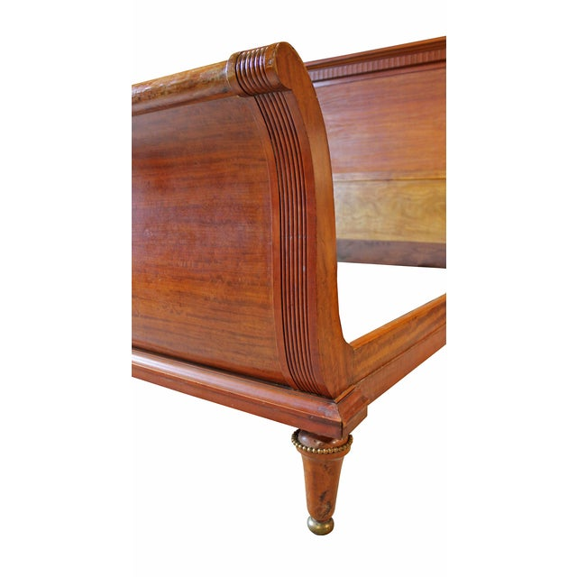 "Antique Deco ""Empire"" Style Sleigh Bed - Image 3 of 5"