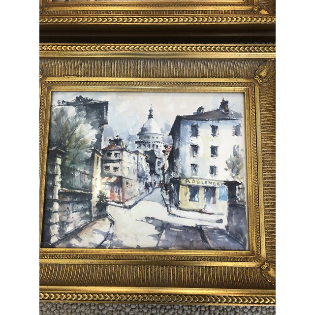 2000 - 2009 Scenes of Paris in Giltwood Frames -Set of 4 For Sale - Image 5 of 9