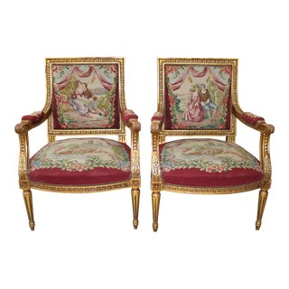 Late 19th Century French Louis XV Style Chairs - a Pair For Sale