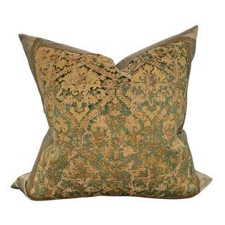 19th Century Italian Silk Velvet Pillow For Sale