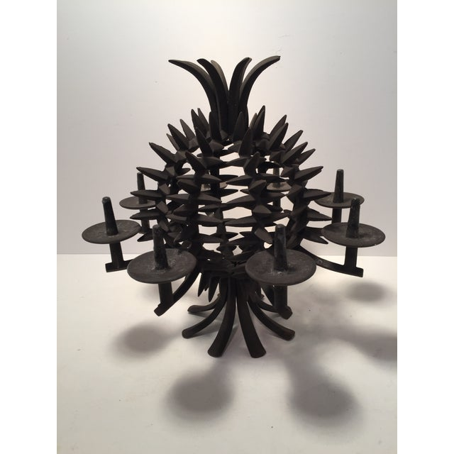 Black Jens Quistgaard Iron Pineapple Spike Candle Holder For Sale - Image 8 of 8
