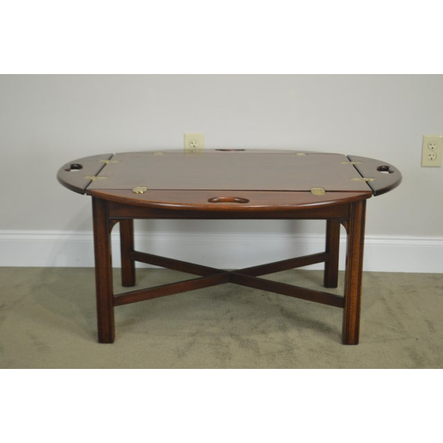 *STORE ITEM #: 19067-mr Chippendale Style Mahogany Butlers Coffee Table AGE / ORIGIN: Approx. 25 years, America DETAILS /...