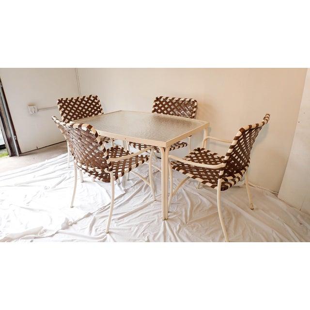 Tropitone Brown & White Outdoor Patio Set - Set of 5 - Image 6 of 11