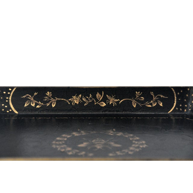 Chinoiserie Bee Motif Metal Serving Tray - Image 4 of 7