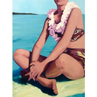 """Contemporary Figurative Painting """"Surfing Beauty"""" by T.S. Harris"""