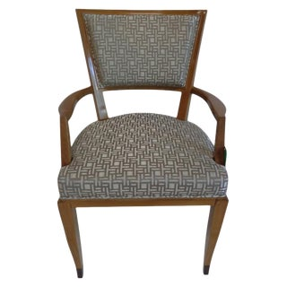 Art Deco Arm Chair by Lucien Rollin for William Switzer For Sale