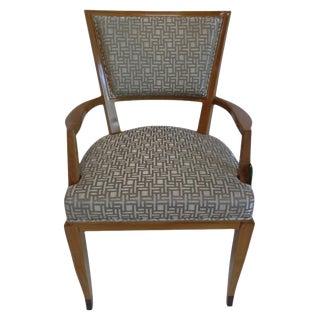 French Art Deco Lucien Rollin Delphi Fauteuil Arm Chair For Sale