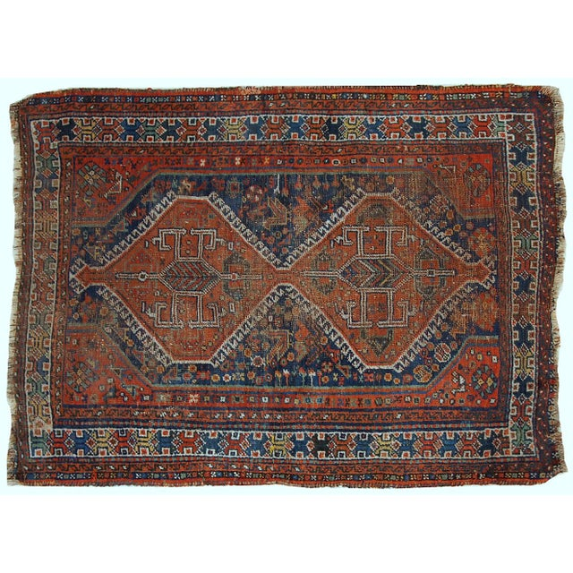 1910s Antique Persian Shiraz Rug - 3′9″ × 5′ - Image 9 of 11