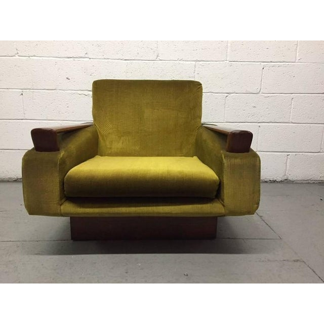 Mid-Century Modern Pair of Jacques Adnet Sculptural Lounge Chairs For Sale - Image 3 of 8
