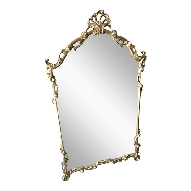 Chinoiserie Gold Carved Wall Mirror For Sale