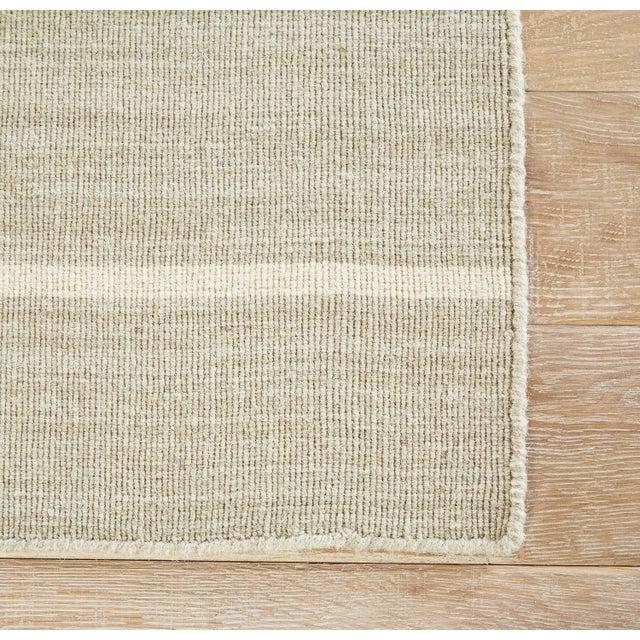Contemporary Jaipur Living Cape Cod Handmade Stripe Gray/ White Area Rug - 8′ × 10′ For Sale - Image 3 of 6