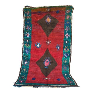 1980s Azilal Moroccan Runner Rug - 4′8″ × 8′2″ For Sale