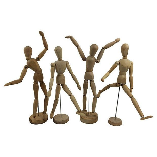 Mid-Century Wood Artists Models - Set of 4 - Image 1 of 2