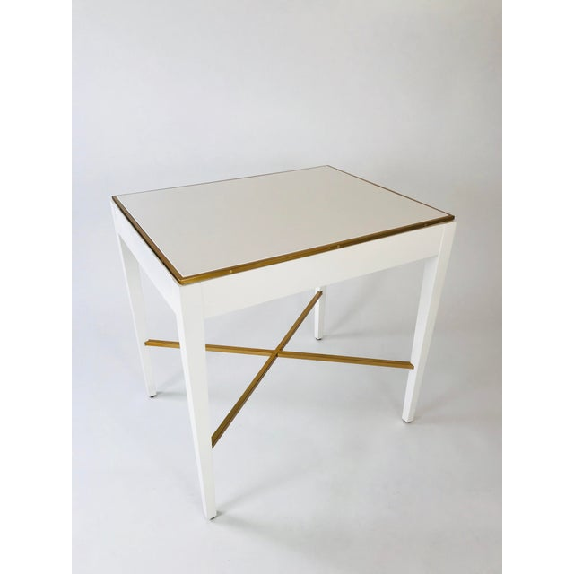 Modern History Home Modern History Georgian White End Table For Sale - Image 4 of 5