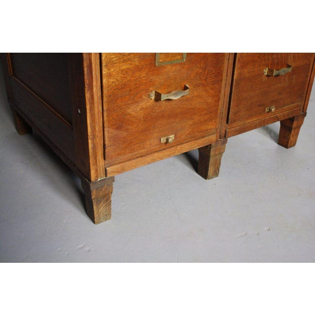 Oak Library Bureau Filing Cabinet from Early 1900s For Sale - Image 4 of 6