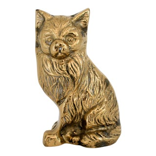 Vintage Brass Cat For Sale